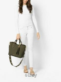 New Michael Kors Oliver Green Brooklyn Large Leather Tote bag NWT $498