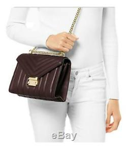 New Michael Kors Whitney Large Quilted Leather Convertible Shoulder Bag Brown
