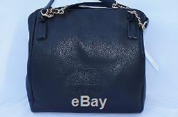 New Tory Burch Harper Tote Bag Black Satchel Handbag Leather