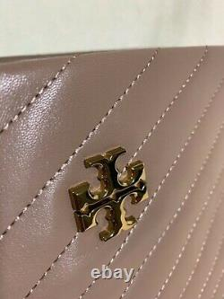 New With Tag Tory Burch Classic Taupe Kira Chevron Tote Retail $598