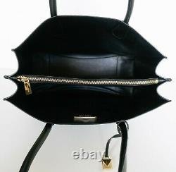 Nwot Michael Kors Mercer Extra Large Logo Pocket Pvc Tote Bag Mk Brown Black