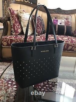 Nwt, Authentic Michael Kors Violet Leather Jstvl Sm Carryall Handbag+wallet$600