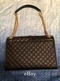 Nwt! Authentic Saint Laurent Ysl Large Envelope Chain Bag