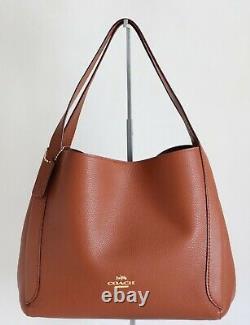 Nwt Coach Hadley Pebbled Leather Shoulder Bag Hobo Saddle
