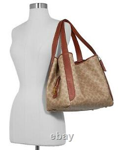 Nwt Coach Hadley Signature Shoulder Bag Hobo Tan/rust