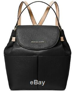 Nwt Michael Kors Bedford Convertible Leather Backpack Black