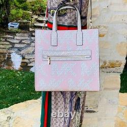 Nwt Michael Kors Kenly Lg Ns Signature Tote/ Double Zip Wallet Options Pink