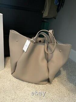 Polene Le Cabas Tote In Taupe Leather