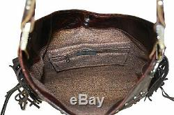 Raviani Western Indian Chief With Brindle Hair On Leather Bag WithFringes (USA)