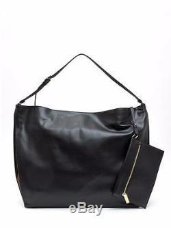STELLA MCCARTNEY Black Beckett Big Shoulder Bag Hobo Bag Clutch Wallet rrp800GP