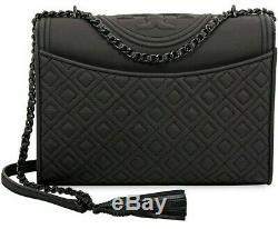 Tory Burch 39928-001 Fleming Black Matte Convertable Women's Handbag New