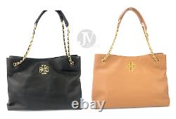 Tory Burch (60396) Britten Triple Compartment Leather Tote Hand Bag