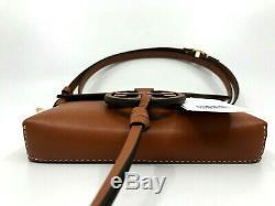 Tory Burch Miller NEW Aged Camello Tan Belt Logo Leather Bag Clutch $228 M L