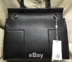 Tory Burch T Block Tote Tote leather bag handbag black new Authentic