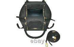 Tory Burch Women's Half-Moon Large Black Leather Women's Handbag New