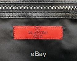 VALENTINO Black Lace Leather Trim Shopping Tote Handbag NEW WITH TAGS