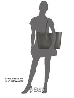 YSL Saint Laurent Large Black Leather Shopper & Pouch Wallet Women's Handbag NEW