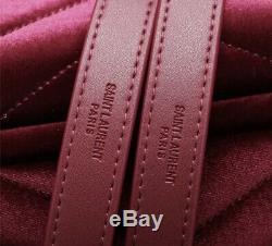 YSL Yves Saint Laurent Velvet Shoulder Bag + Dust Bag + Cards
