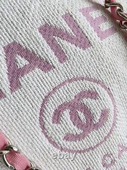 1000% Auth! Nouveau Chanel Rose Deauville Grand Sac Sac À Main
