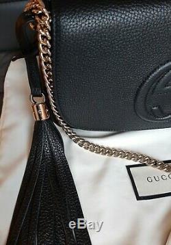 100% Authentique Gucci Soho Grande Chaîne Sac Disco