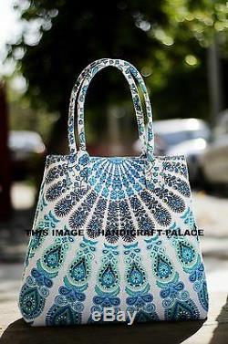 10pcs Lot Indien Coton Mandala Tote Carry Sac À Main Bourse