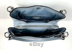1942 Coach Hallie Pebbled Sac À Bandoulière En Cuir Sac À Main Bleu Pâle Nwt 398 $