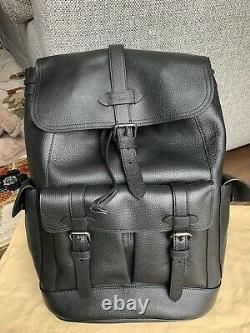 $698 Nwt Coach Black Hudson Leather Sac À Dos Homme F36811
