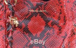Alexander Mcqueen New Auth Crâne Satchel Sac Fourre-tout Sac À Main En Peau De Serpent Imprimer 1395 $