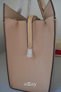 Auth 598 $ Tory Burch Kira Cuir Sable Perfect Collection Grand Épaule Fourre-tout
