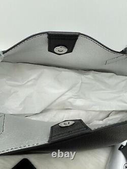 Auth T.n.-o. MCM Yris Grand Sac De Magasineuse En Cuir En Noir Avec Poche Zippée Logo