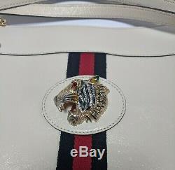 Authentic Gucci Femmes Rajah Grand Fourre-tout En Blanc Rp 2500 $