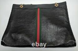 Authentic Gucci Femmes Rajah Grand Fourre-tout En Noir Rp 2500 $