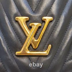 Authentique Louis Vuitton New Wave Chain Black Quilted Tote Sac À Main