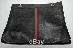 Authentique Rajah Gucci Femmes Grand Fourre-tout En Rp Noir 2500 $