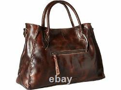 Bed Stu Rockaway Teak Rustic Leather Satchel Sac À Main Sac À Main B1010