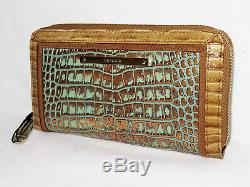 Brahmane Exotique Ltd Ed Retraité Tiete Bronze Turquoise Marianna & Suri Wallet Tn-o