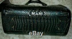 Brahmane Taylor Agate Partridge Melbourne Black Suede Dragonne Sac Nwt 465 $