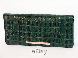 Brahmin Haut De Gamme Emerald Dark Green La Scala Moyen Julian Tote Et Wallet Nwt