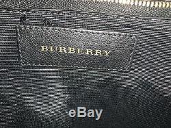 Burberry Grand Clarborough En Cuir Noir Sac Fourre-tout Grain Épaule Authentique