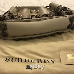 Burberry Prorsum Cuir Mason Guerrier Clouté Sac Besace Noire. Perf. État