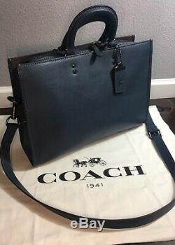 Coach 1941 Hommes Rogue Brève Bleecker Glovetanned Pebbled In Dark Denim 11104