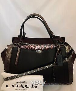 Coach 76459 Dreamer 36 Colorblock Exotique Black Multi Sac Besace En Cuir Nwt