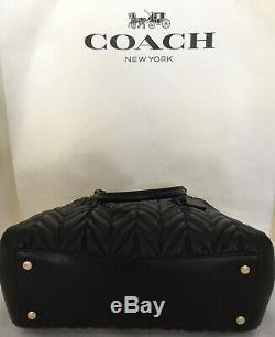 Coach F31457 Sage Chaîne Carryall Quilting Sac Bandoulière En Cuir IM / Noir Tn-o