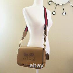 Coach Jes Messenger Crossbody Bag Tan Brown Leather Purse T.n.-o. 350 $