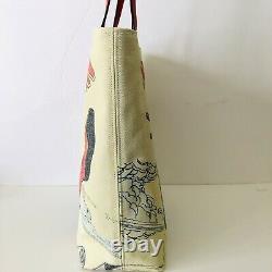 Coach Marvel Tote Spider-man Print Leather Beige Canvas Shoulder Bag T.n.-o. 298 $