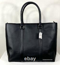 Coach Perry Metropolitan Business Tote Black Leather Duffle F54758 Comprimé Pour Ordinateur Portable
