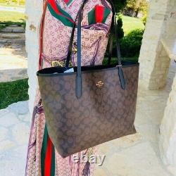 Coach Signature City Tote Handbag/wallet Options Brown/noir T.n.-o.