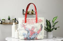 Coach X Marvel 2549 Spider-man Signature Canvas Sac À Main Sac À Main Satchel
