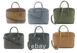 Coach (f39023 F39022) Sac Pour Ordinateur Portable Porte-documents En Cuir