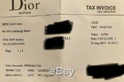 Dior Oblique Selle Navy Sac À Main Bourse Taupe Comme Nouveau Rrp 4800 $